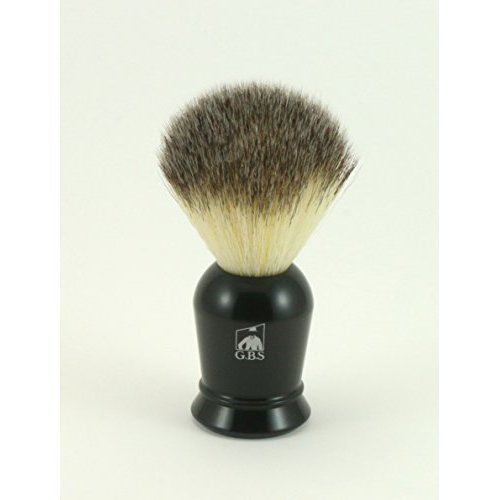 Synthetic Shaving Brush -- Super Soft with Black Handle -- Comes with Free Black Stand
