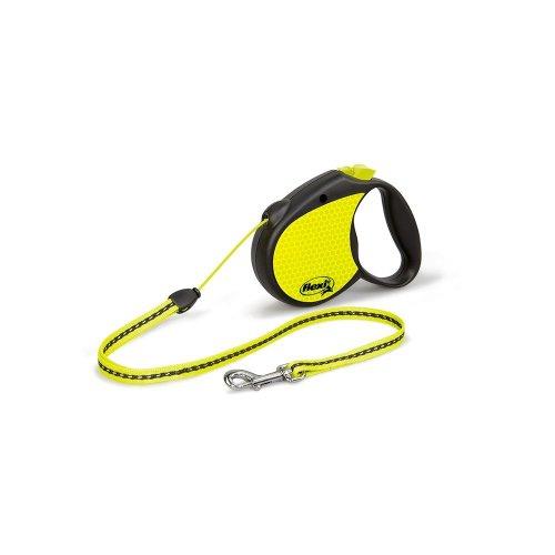 flexi Neon, Small, 5 m/ 12 Kg , Yellow