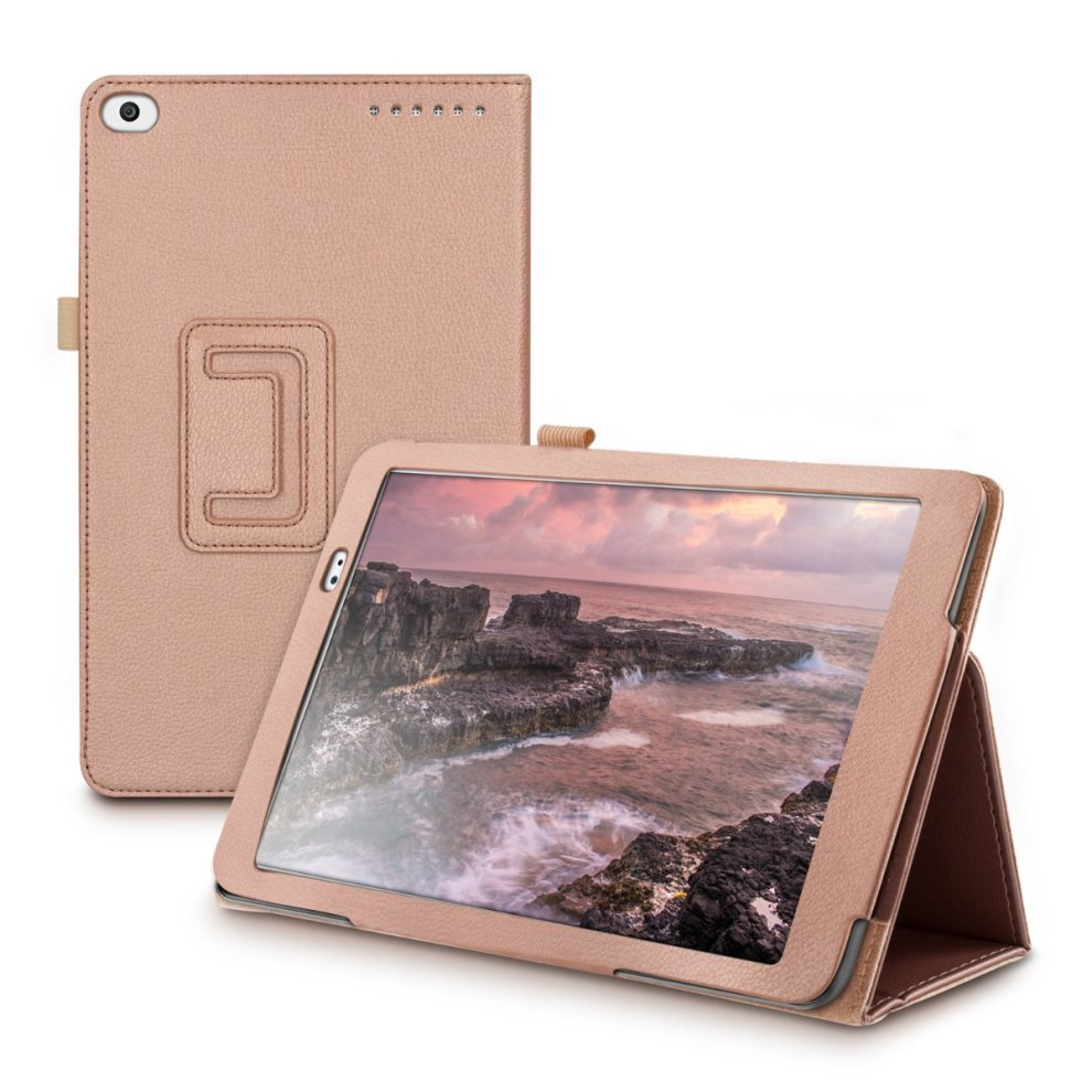 wholesale dealer 5b896 cf78c kwmobile Case for Huawei MediaPad T1 10 - Slim PU Leather Protective Tablet  Cover with Stand Feature - Rose Gold