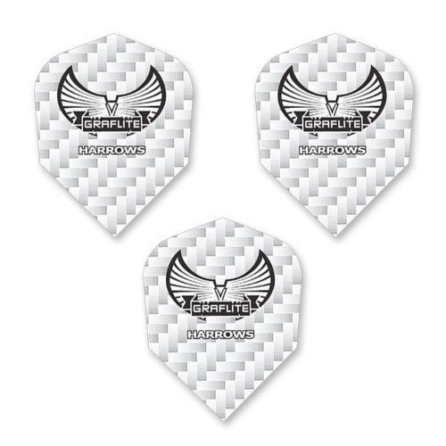 Harrows Graflite Standard Shape Dart Flights White