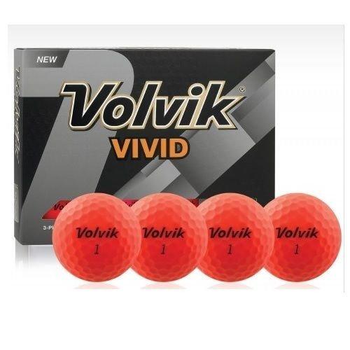 Volvik Vivid Golf Balls Red 1 Dozen