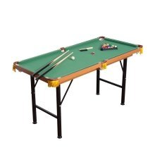 Homcom 4ft 6in Billiards Table | Small Pool Table