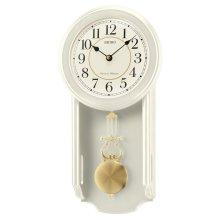 Seiko QXH063C Westminster/Whittington Dual Chime Wall Clock with Pendulam