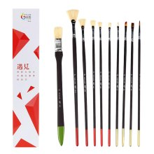 10 Pieces Paint Brushes Set Artist Paint Brushes Painting Supplies #07