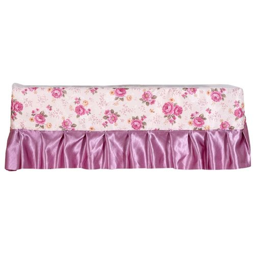 Floral Pattern Air Conditioner Dust Cover Protective Cover Room Decoration 1 piece (C)