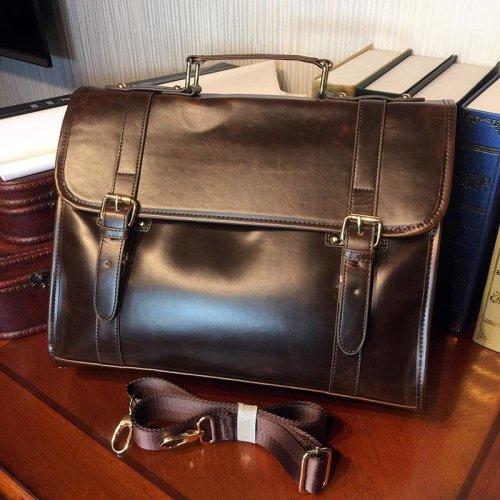 ETONWEAG Brand Messenger Bag Men Leather Laptop Bag Brown Vintage Briefcase Luxury Business Document Briefcases Mens Office Bags