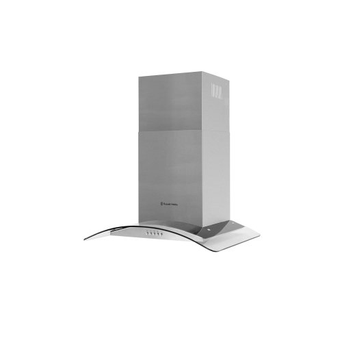 Russell Hobbs 60cm Wide 5 Function LED Light Cooker Hood Glass & Stainless Steel