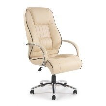 Dijon High Back Leather Faced Executive Office Chair With Contrasting Piping And Chrome Base by Eliza Tinsley 9211ATG