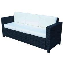 Outsunny 3 Seater Garden Rattan Sofa Chair
