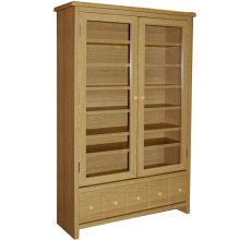 MONTANA - 409 CD / 224 DVD / Blu-ray / Video Media Storage Cabinet - Oak