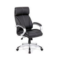 Eliza Tinsley Cloud - High Back Leather Faced Executive Armchair with Chrome Base Black