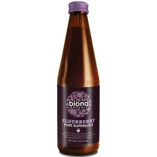 Biona Organic Elderberry  Pure Superjuice ~ 100% Elderberberry 330g
