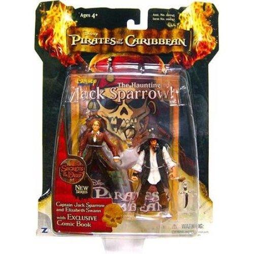 Pirates of the Caribbean: Secrets Of The Deep Captain Jack Sparrow & Elizabeth Swann Action Figure 2-Pack