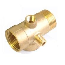 """5 Way Brass Pump R5 Fittings Connector for Pressure Vessels and Gauges 1"""" X 1/4"""""""