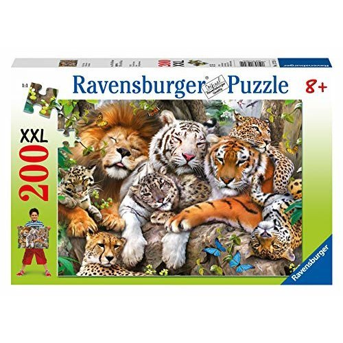 Ravensburger Big Cat Nap 200 Piece Jigsaw Puzzle For Kids Every Piece Is Unique Pieces Fit Together Perfectly