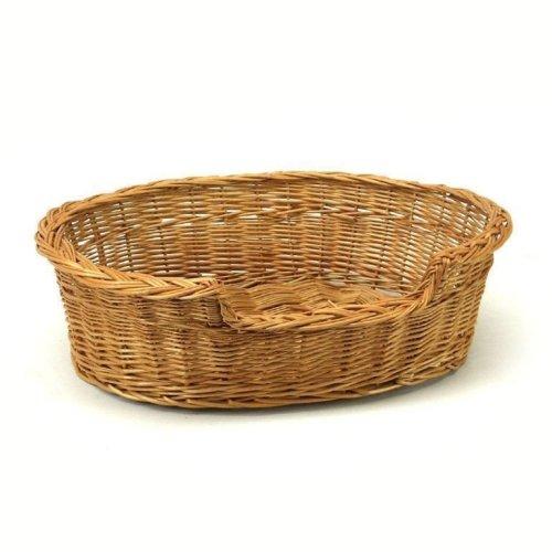 Medium Willow Dog Cat Pet Wicker Basket