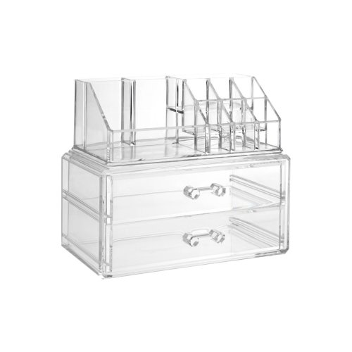 10 Compartment Cosmetics Organiser, Clear