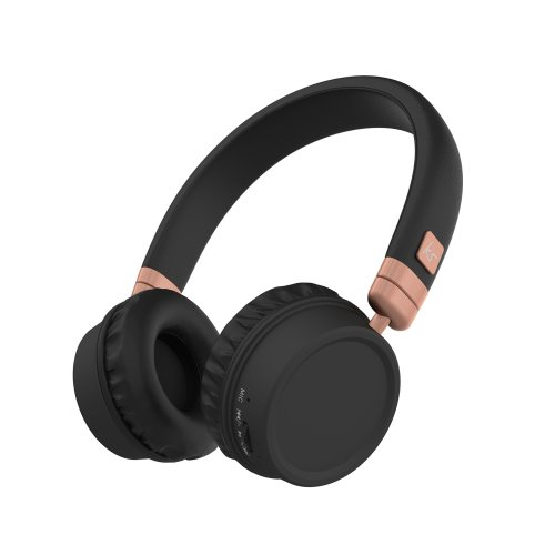 KitSound Harlem Wireless Bluetooth On-Ear Headphones with Mic - Rose Gold
