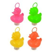 20 Weighted 7cm Plastic Ducks with Hooks - Assorted Colours