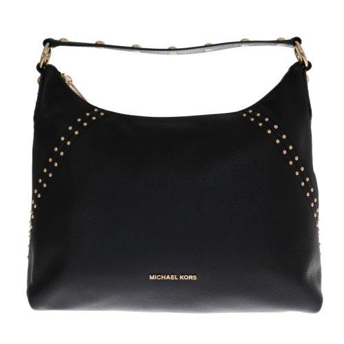 80166396c3e7 Michael Kors Handbags Black ARIA Leather Shoulder Bag on OnBuy