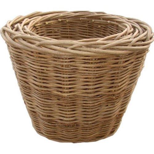 Set of 3 Oval Log Baskets