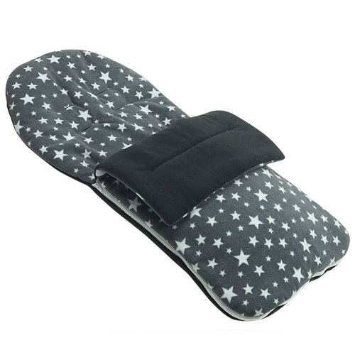 Fleece Footmuff Compatible With Britax Affinity B-smart Smile - Grey Star