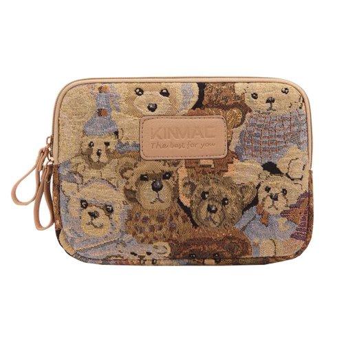Cute Bears Multifunctional Storage Bag Double Zipper Purse