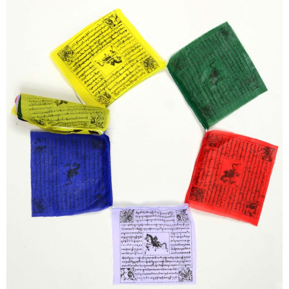 BUDDHAFIGUREN Tibetan Prayer Flags 3 m - 25 flags Buddhist Flag Fine
