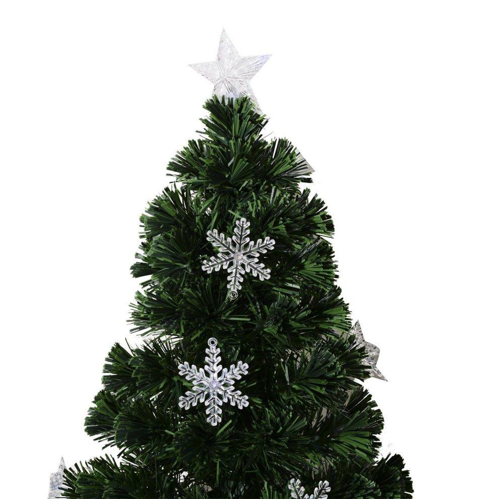 homcom 4ft green fibre optic artificial christmas tree 4ft 120cm 3