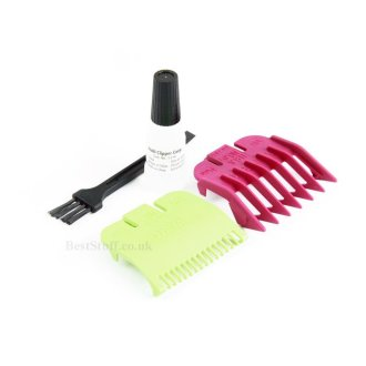 Wahl Clipper Attachment Grade 0.5 (1.5mm) Green & Grade 1.5 (4.5mm) Purple