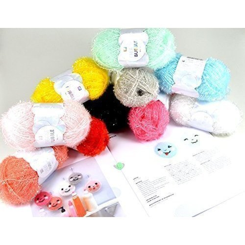 Creative Bubble - Creative Yarn with smilyknopf for badeschwämme Large Handmade Set