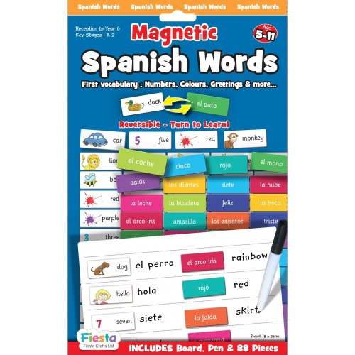 Spanish Words Magnetic Game - Fiesta Crafts -  fiesta crafts magnetic spanish words