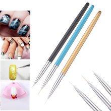 3Pcs/Kit Nail Art Paint Brush Manicure Nylon Hair Polish Gel Design Liner Dotting Drawing Pen