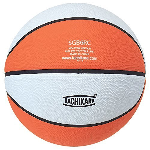Tachikara Intermediate Size, 2-Tone Rubber Basketball (Orange/White)