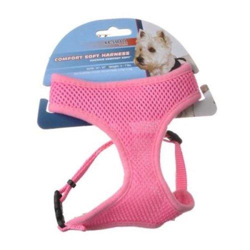 Coastal Pet 6413PKB 0.62 in. Comfort Soft Adjustable Harness, Bright Pink