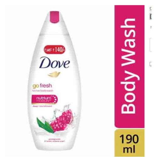 3 Pack Dove Body wash - Go Fresh Revive, 190 ml