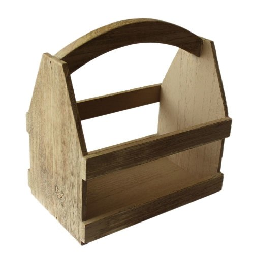 Oak Effect Wooden Plant Carrier