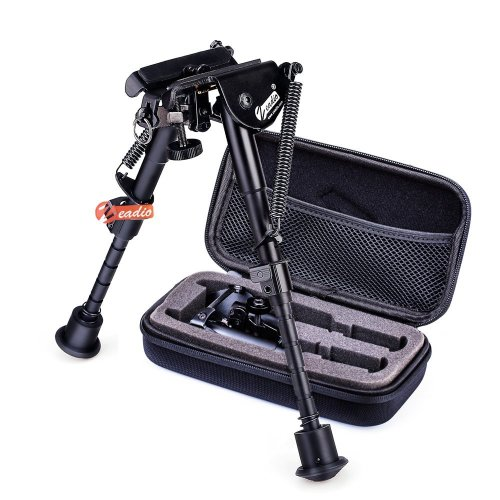 zeadio 6-9 inches Extendable Tactical Bipod with Sling Mount and Protective Case