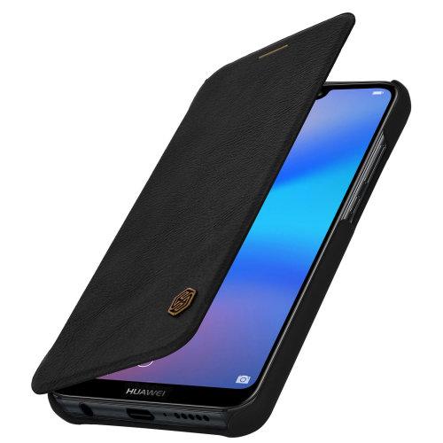 Nillkin Qin Series flip wallet case built-in card slot Huawei P20 Lite - Black