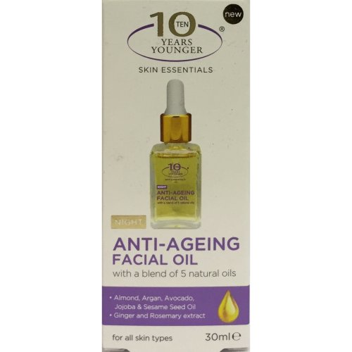 10 Years Younger Skin Essentials Anti-Ageing Facial Night Oil 30ml Anti Aging