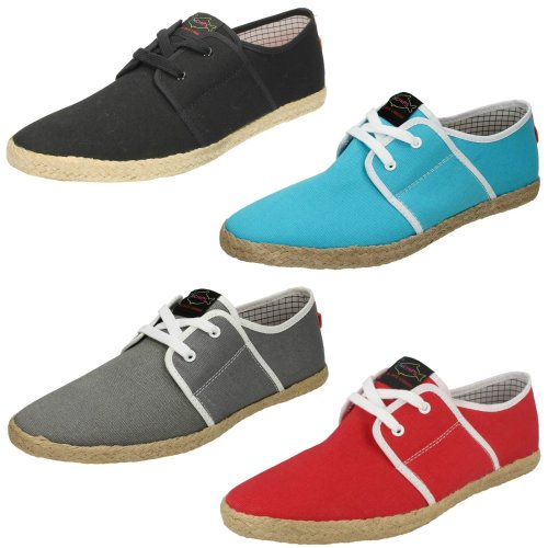 Mens Fish N Chips By Base London Canvas Shoes Spam