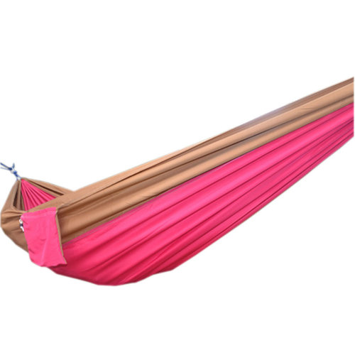 "Creative Canvas Color Matching Hammock Foldable Hammock 102*55"" Camel&Pink"