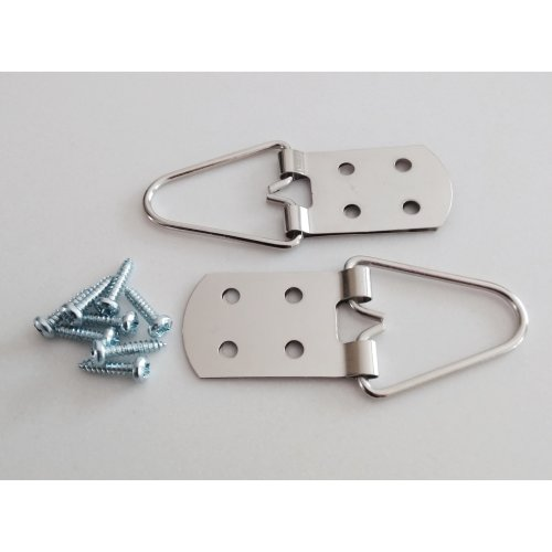 Heavy Duty 4 Hole Strap Hangers for Pictures and Mirrors - Great Quality - Pack of 2