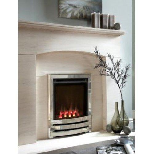 Designer Fire - Flavel FSRCU0MN Silver Windsor Slimline Contemporary Gas - MC