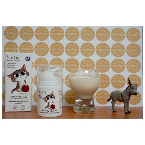 Greek Moisturizing Emollient Baby Cream With Bio Donkey Milk 50ml