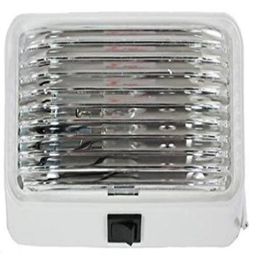 Porch Light with Clear Lens & White Swith Base