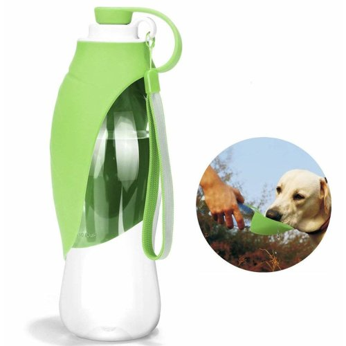 ab673d0c0f HJHY Portable Pet Water Bottle, Reversible & Lightweight Travel Water  Dispenser for Dogs or Cats, Made of Food-Grade Silicone (20 Oz) (Green) on  OnBuy
