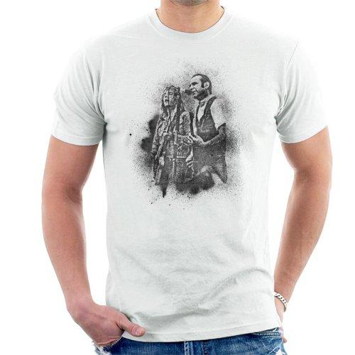 TV Times Status Quo Live Grain Effect Men's T-Shirt