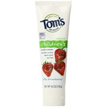 Toms of Maine Childrens Natural Fluoride Toothpaste, Silly Strawberry 4.2 oz
