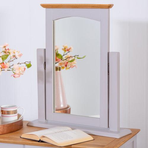 Malvern Shaker Grey Painted Oak Dressing Table Mirror